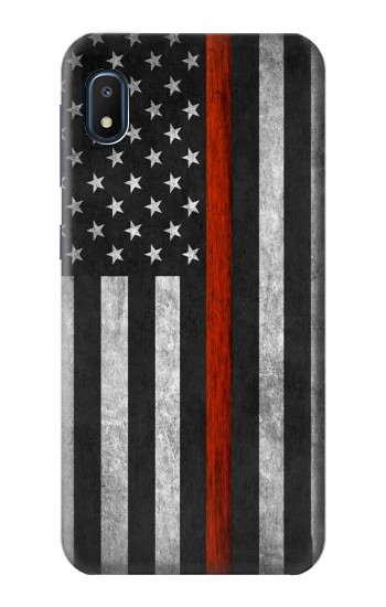 Printed Firefighter Thin Red Line Flag Samsung Galaxy A10e Case