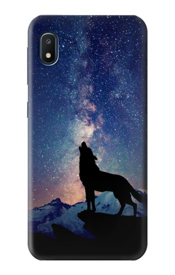 Printed Wolf Howling Million Star Samsung Galaxy A10e Case