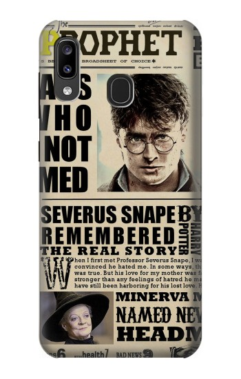 Printed Harry Potter Daily Prophet Samsung Galaxy A20, Galaxy A30 Case