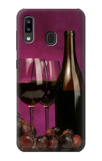 Printed Red Wine Samsung Galaxy A20, Galaxy A30 Case