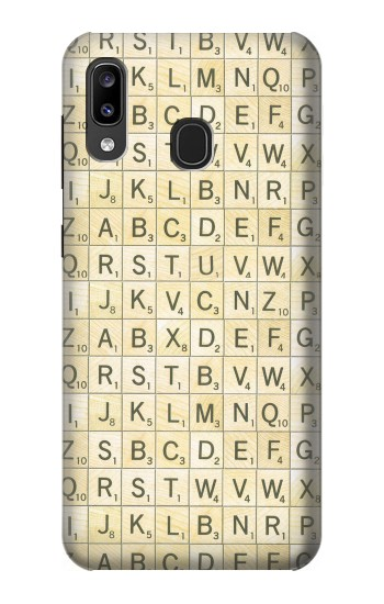 Printed Scrabble Word Game Samsung Galaxy A20, Galaxy A30 Case