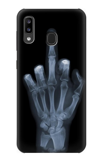 Printed X-ray Hand Middle Finger Samsung Galaxy A20, Galaxy A30 Case
