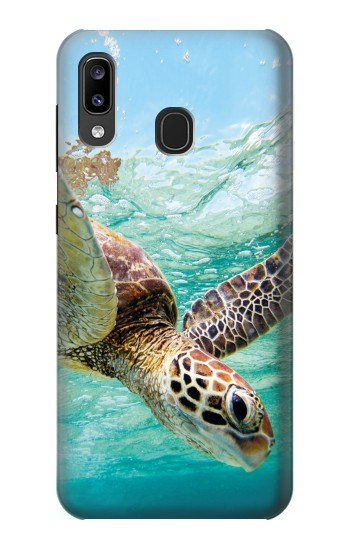 Printed Ocean Sea Turtle Samsung Galaxy A20, Galaxy A30 Case