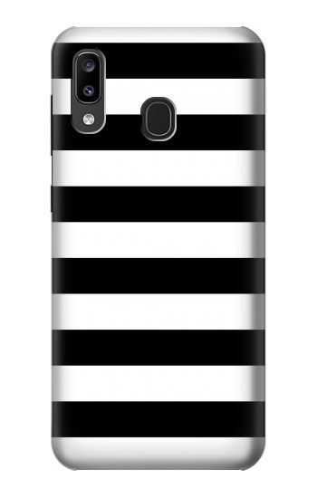 Printed Black and White Striped Samsung Galaxy A20, Galaxy A30 Case
