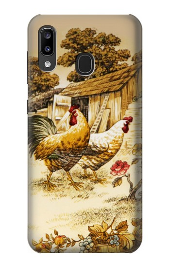 Printed French Country Chicken Samsung Galaxy A20, Galaxy A30 Case