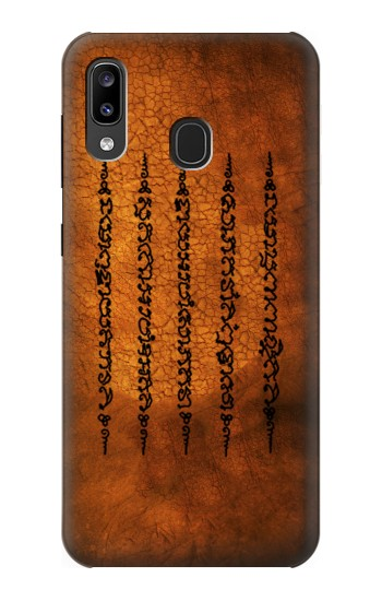 Printed Sak Yant Yantra Five Rows Success And Good Luck Tattoo Samsung Galaxy A20, Galaxy A30 Case