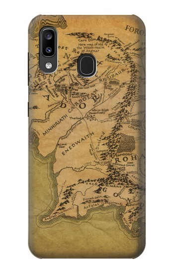 Printed The Lord Of The Rings Middle Earth Map Samsung Galaxy A20, Galaxy A30 Case
