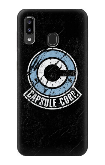 Printed Dragon Ball Capsule Corporation Black Rock Samsung Galaxy A20, Galaxy A30 Case