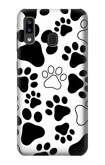 Printed Dog Paw Prints Samsung Galaxy A20, Galaxy A30 Case