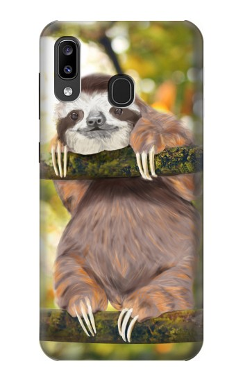 Printed Cute Baby Sloth Paint Samsung Galaxy A20, Galaxy A30 Case