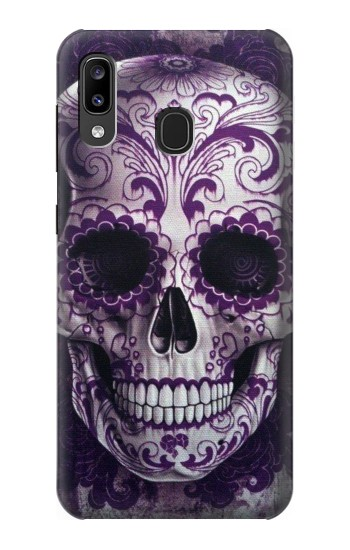 Printed Purple Sugar Skull Samsung Galaxy A20, Galaxy A30 Case