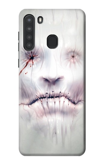 Printed Horror Face Samsung Galaxy A21 Case