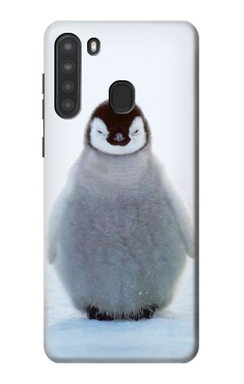 Printed Penguin Ice Samsung Galaxy A21 Case