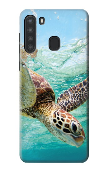 Printed Ocean Sea Turtle Samsung Galaxy A21 Case
