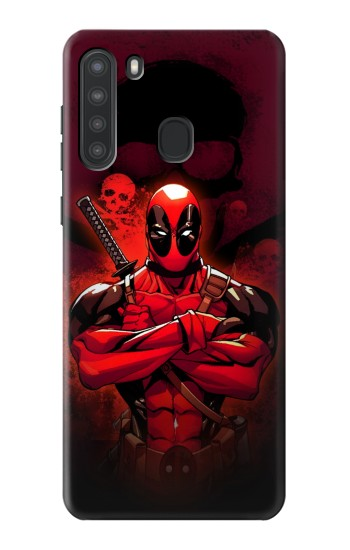 Printed Deadpool Skull Samsung Galaxy A21 Case