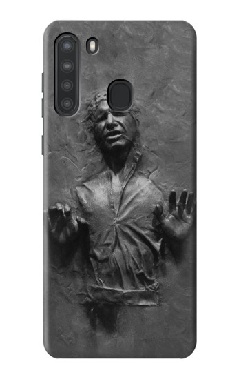 Printed Han Solo Frozen in Carbonite Samsung Galaxy A21 Case