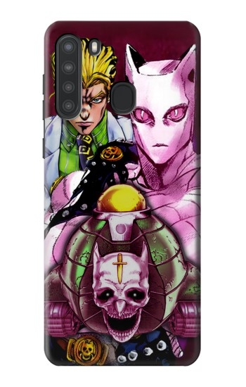Printed Jojo Bizarre Adventure Kira Yoshikage Killer Queen Samsung Galaxy A21 Case