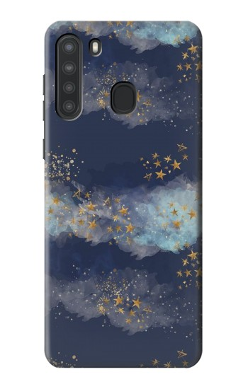 Printed Gold Star Sky Samsung Galaxy A21 Case