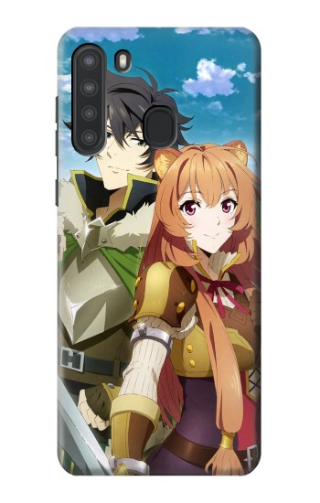 Printed Shield Hero Naofumi Raphtalia Samsung Galaxy A21 Case