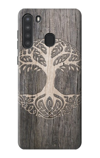 Printed Viking Tree of Life Symbol Samsung Galaxy A21 Case