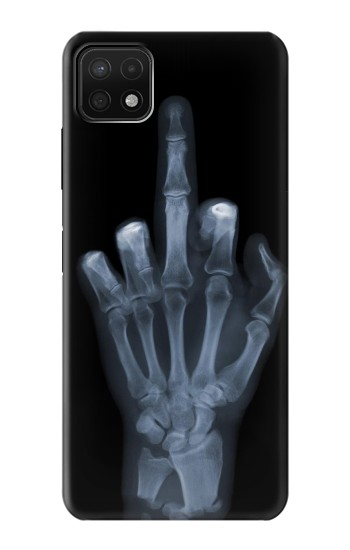 Printed X-ray Hand Middle Finger Samsung Galaxy A22 5G Case