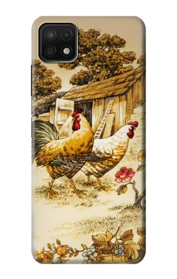 Printed French Country Chicken Samsung Galaxy A22 5G Case