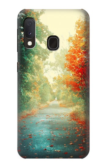Printed Road Through The Woods Samsung Galaxy A20e Case