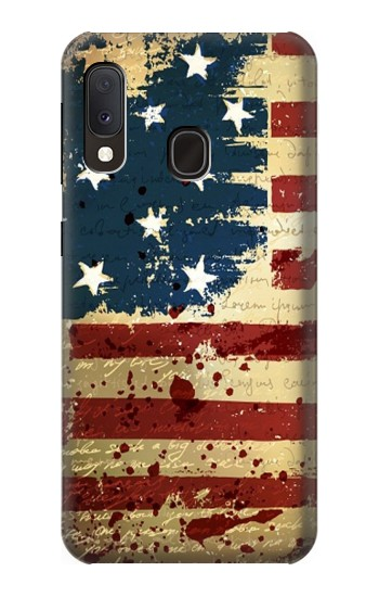 Printed Old American Flag Samsung Galaxy A20e Case
