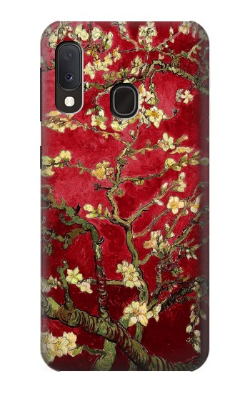 Printed Red Blossoming Almond Tree Van Gogh Samsung Galaxy A20e Case