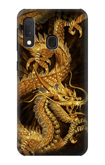 Printed Chinese Gold Dragon Printed Samsung Galaxy A20e Case