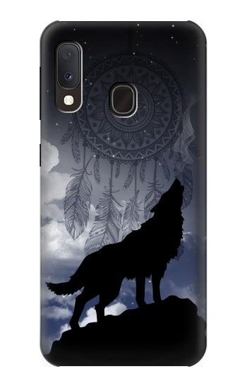 Printed Dream Catcher Wolf Howling Samsung Galaxy A20e Case
