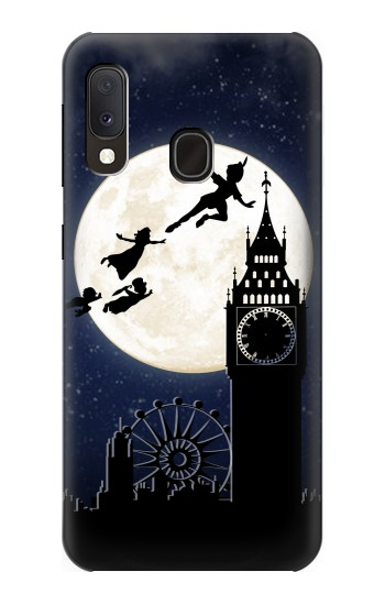 Printed Peter Pan Fly Fullmoon Night Samsung Galaxy A20e Case