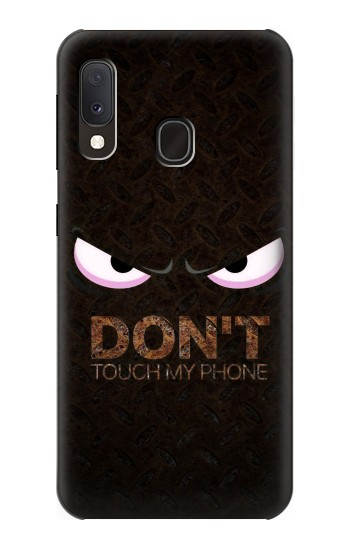 Printed Do Not Touch My Phone Samsung Galaxy A20e Case