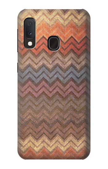 Printed Zigzag Fabric Pattern Graphic Printed Samsung Galaxy A20e Case