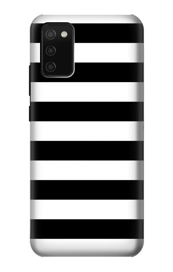 Printed Black and White Striped Samsung Galaxy A02s Case
