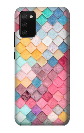 Printed Candy Minimal Pastel Colors Samsung Galaxy A02s Case