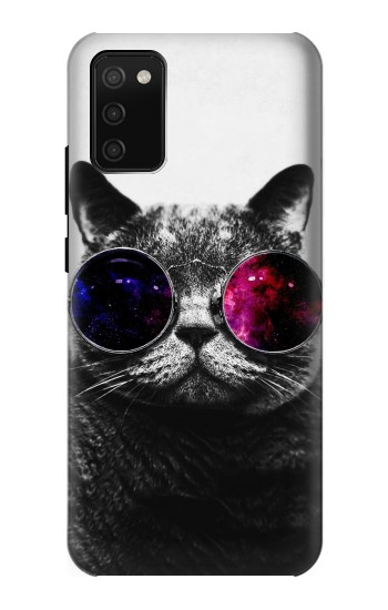 Printed Cool Cat Glasses Samsung Galaxy A02s Case