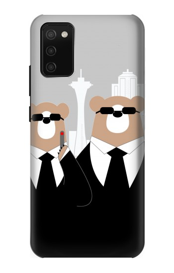 Printed Bear in Black Suit Samsung Galaxy A02s Case