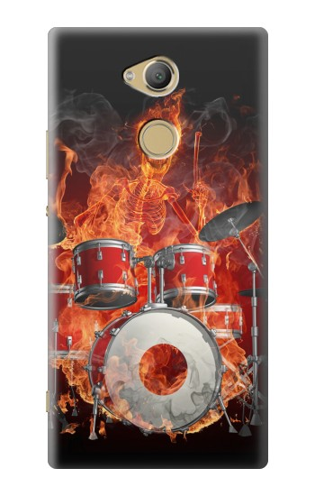 Printed Skull Drum Fire Rock Sony Xperia XA2 Ultra Case
