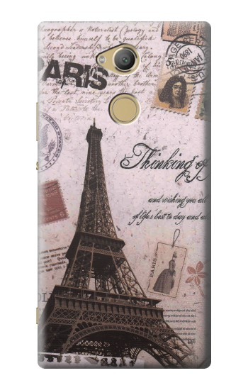 Printed Paris Postcard Eiffel Tower Sony Xperia XA2 Ultra Case