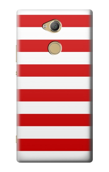 Printed Red and White Striped Sony Xperia XA2 Ultra Case