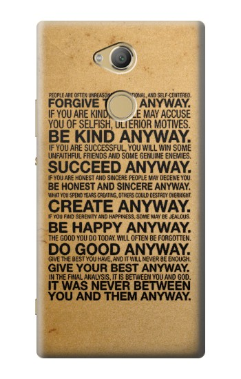 Printed Mother Teresa Anyway Quotes Sony Xperia XA2 Ultra Case