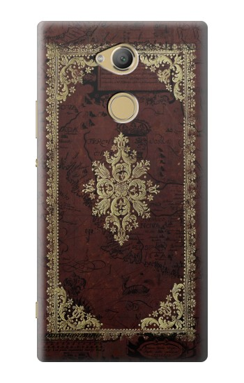 Printed Vintage Map Book Cover Sony Xperia XA2 Ultra Case