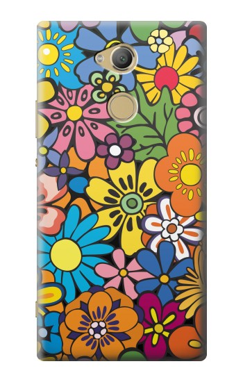 Printed Colorful Flowers Pattern Sony Xperia XA2 Ultra Case