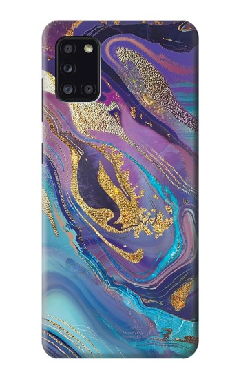 Printed Colorful Abstract Marble Stone Samsung Galaxy A31 Case