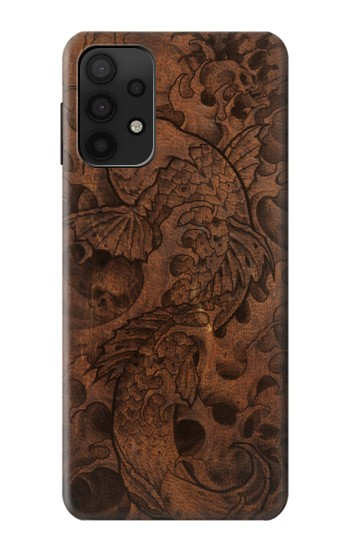 Printed Fish Tattoo Leather Graphic Print Samsung Galaxy A32 5G Case