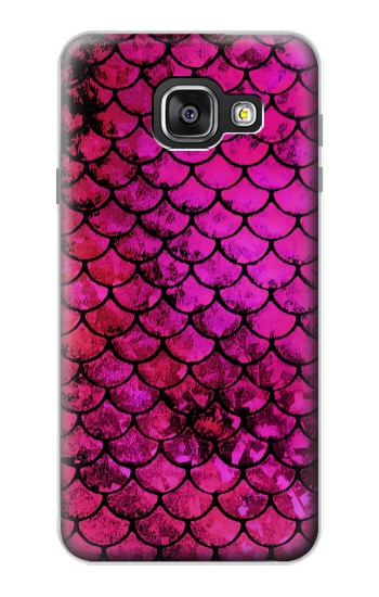 Printed Pink Mermaid Fish Scale Samsung Galaxy A3 (2016) Case