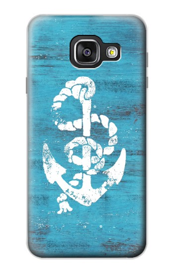 Printed Marine Anchor Blue Wooden Samsung Galaxy A3 (2016) Case