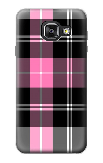 Printed Pink Plaid Pattern Samsung Galaxy A3 (2016) Case
