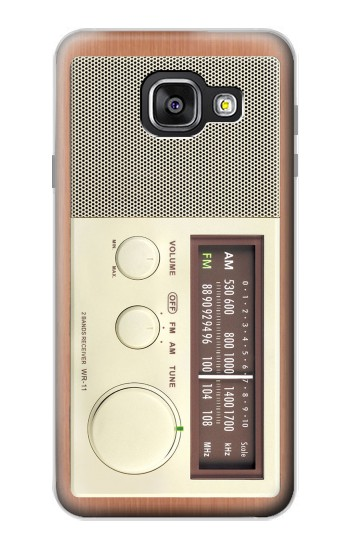 Printed FM AM Wooden Receiver Graphic Samsung Galaxy A3 (2016) Case